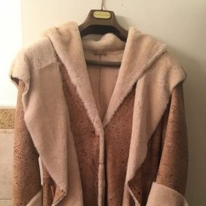 Natural fur full length shearling
